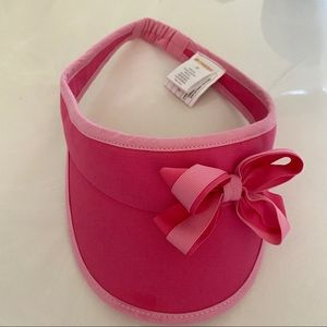 Gymboree girls pink visor with bow